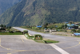 01-Lukla-runway-wtih-military-bunkers-(left)