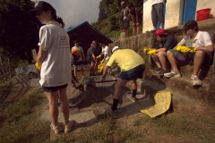 Volunteers-Mix-Sand-and-Cement