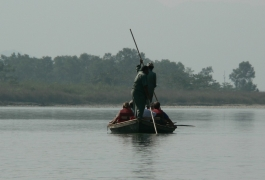 Boating in Chitwan National Park