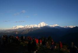 Trekkers at Poon Hill