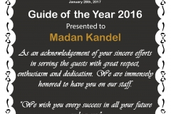 Madan-Kandel-Guide-of-the-Year-2016-Certificate