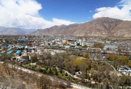 Aerial View of Lhasa
