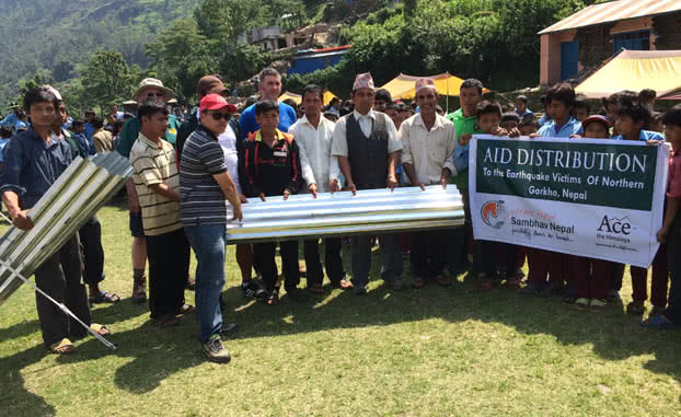 Sambhav-Nepal-Ace-the-Himalaya-Roofing-Sheet-Distribution-Help Nepal